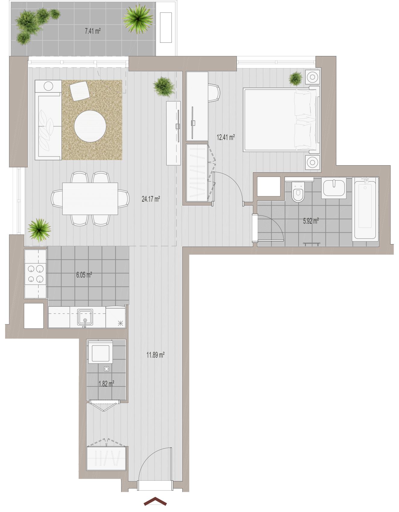 2-Zimmer-Wohnung in Belgrad kaufen