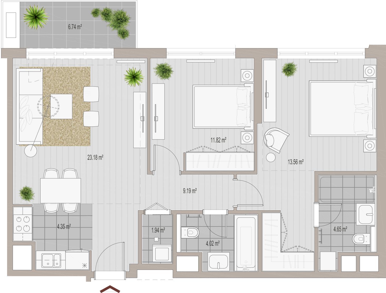 Wohnung kaufen investieren in Belgrad